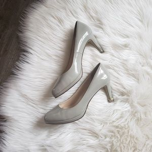 Cole haan Gray Patent Leather Pumps Heels 8.5B